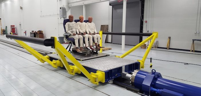 Mirus crash testing sled